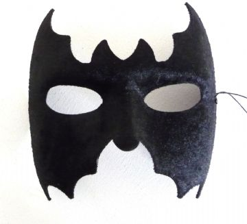 Black Velor Bat Mask (1)